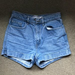 American Apparel jean shorts 27